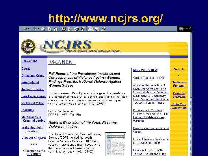 http: //www. ncjrs. org/