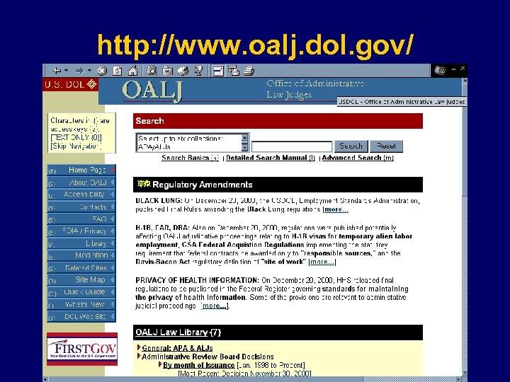 http: //www. oalj. dol. gov/