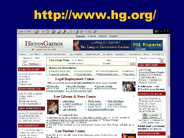 http: //www. hg. org/