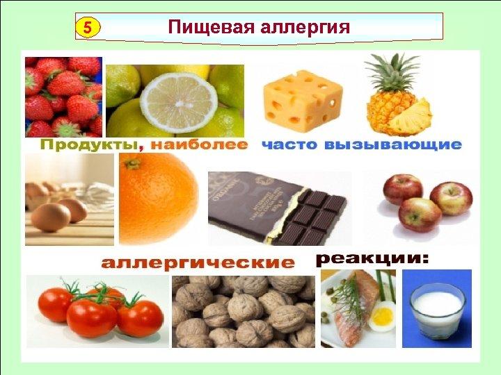 5 Пищевая аллергия