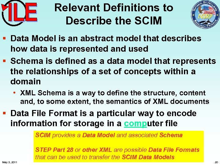 Relevant Definitions to Describe the SCIM § Data Model is an abstract model that