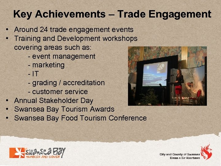 Key Achievements – Trade Engagement • Around 24 trade engagement events • Training and