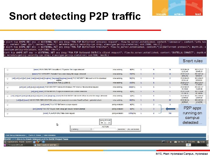 Snort detecting P 2 P traffic Snort rules P 2 P apps running on