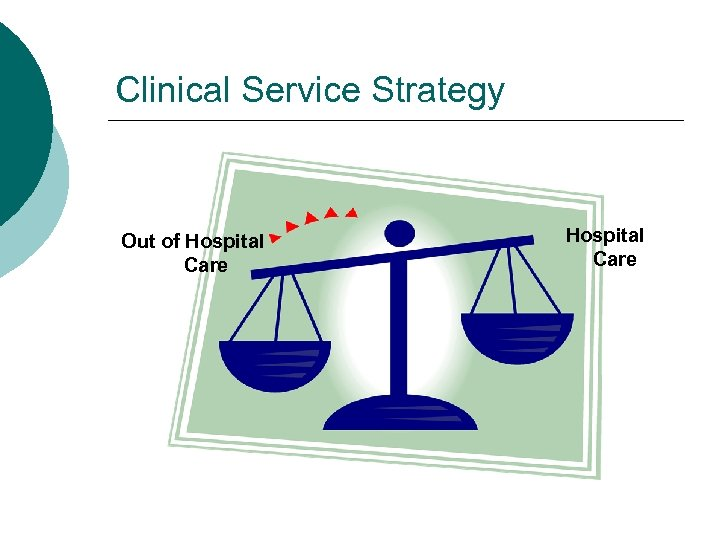 Clinical Service Strategy Out of Hospital Care