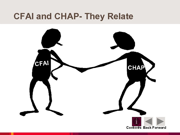 CFAI and CHAP- They Relate CFAI CHAP Contents Back Forward