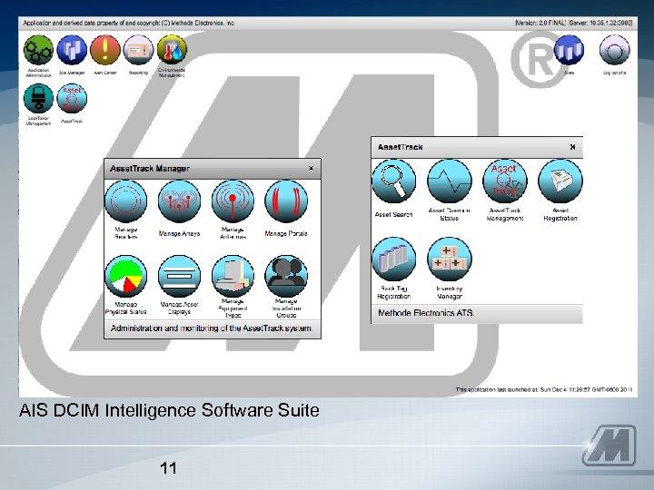 AIS DCIM Intelligence Software Suite 11