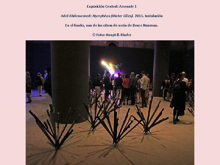 Exposición Central: Arsenale 1 Adel Abdessemed: Nymphéas (Water Lilies). 2015. Instalación En el fondo,