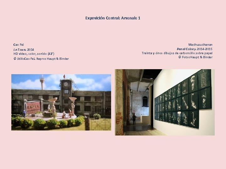 Exposición Central: Arsenale 1 Cao Fei La Town. 2014 HD video, color, sonido (42')