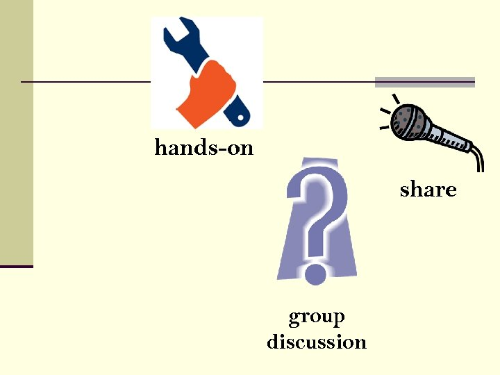 hands-on share group discussion