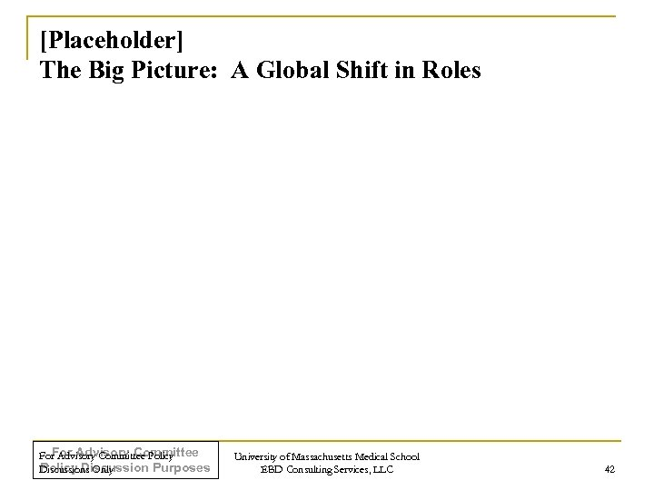 [Placeholder] The Big Picture: A Global Shift in Roles For Advisory Committee Policy Discussion