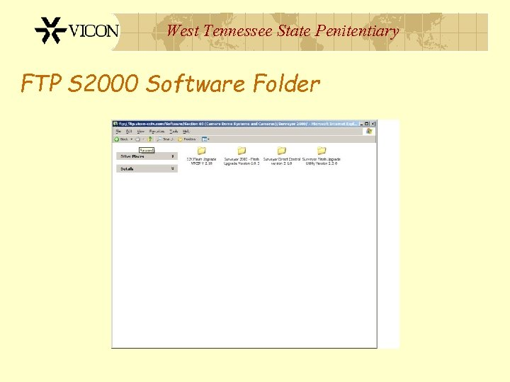 West Tennessee State Penitentiary FTP S 2000 Software Folder