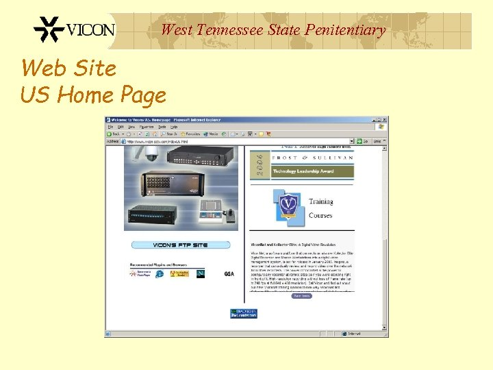 West Tennessee State Penitentiary Web Site US Home Page
