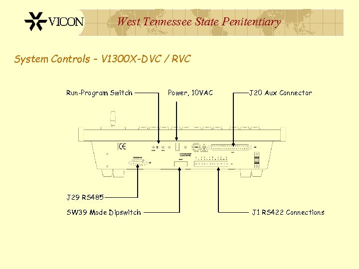 West Tennessee State Penitentiary System Controls – V 1300 X-DVC / RVC Run-Program Switch