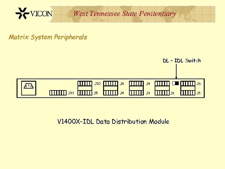West Tennessee State Penitentiary Matrix System Peripherals DL – IDL Switch J 10 J