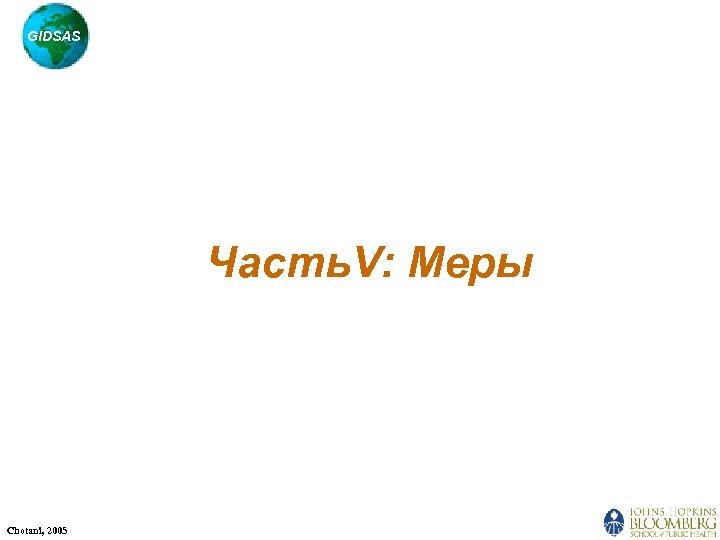GIDSAS Часть. V: Меры Chotani, 2005
