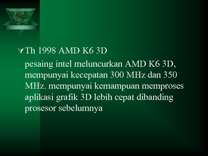 Ú Th 1998 AMD K 6 3 D pesaing intel meluncurkan AMD K 6