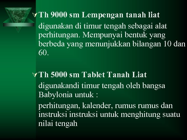 Ú Th 9000 sm Lempengan tanah liat digunakan di timur tengah sebagai alat perhitungan.