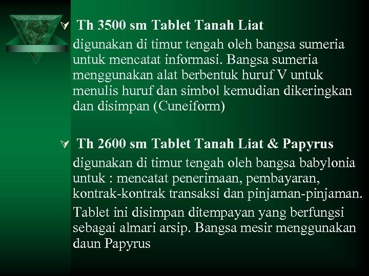 Ú Th 3500 sm Tablet Tanah Liat digunakan di timur tengah oleh bangsa sumeria