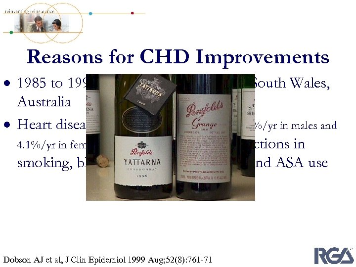 Reasons for CHD Improvements · 1985 to 1993, Hunter Region of New South Wales,
