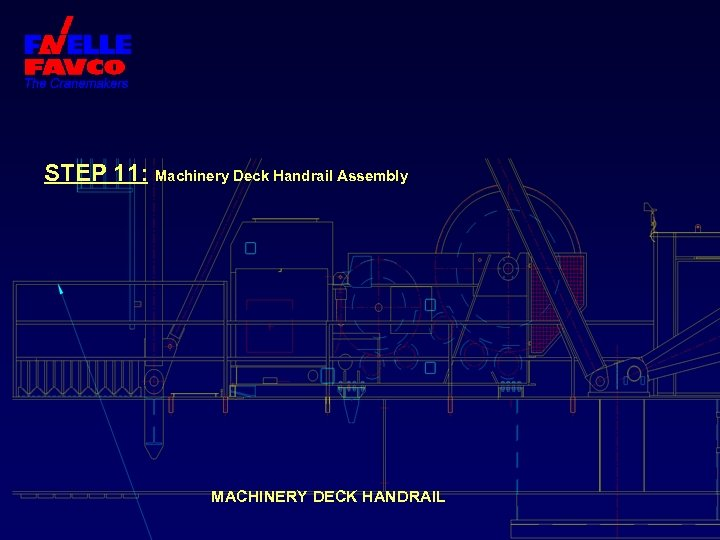 STEP 11: Machinery Deck Handrail Assembly MACHINERY DECK HANDRAIL