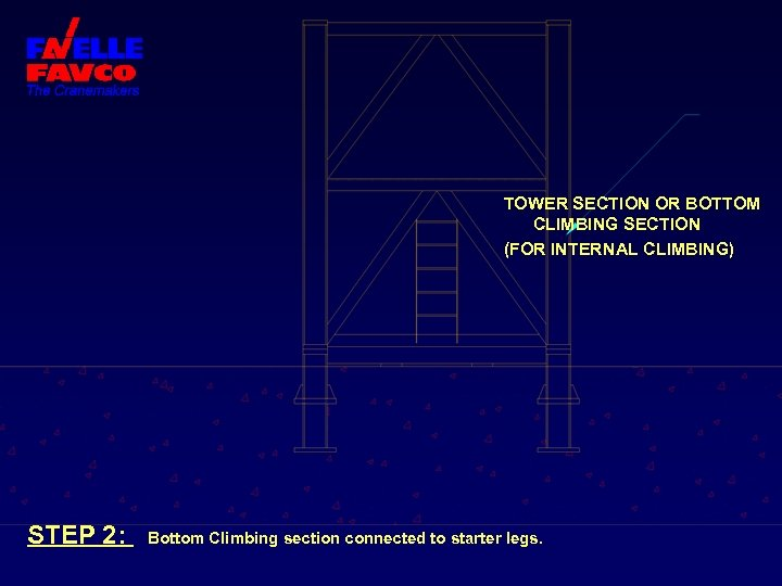 TOWER SECTION OR BOTTOM CLIMBING SECTION (FOR INTERNAL CLIMBING) STEP 2: Bottom Climbing section