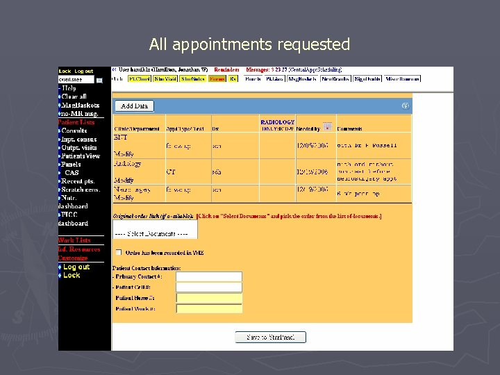 All appointments requested