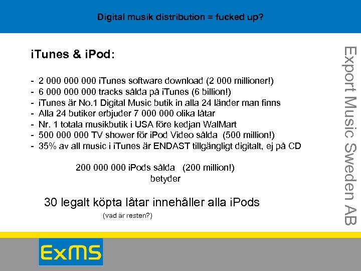 Digital musik distribution = fucked up? - 2 000 000 i. Tunes software download