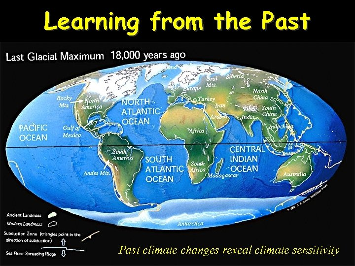 Learning from the Past climate changes reveal climate sensitivity