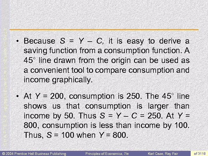 C H A P T E R 8: Aggregate Expenditure and Equilibrium Output •