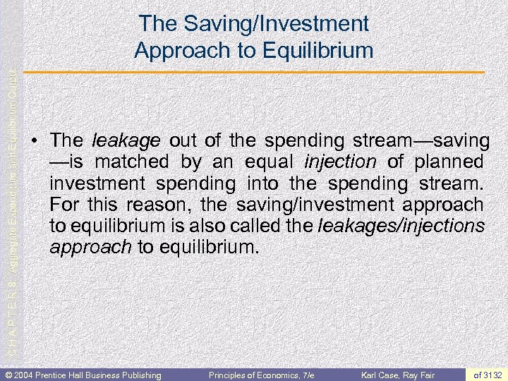 C H A P T E R 8: Aggregate Expenditure and Equilibrium Output The