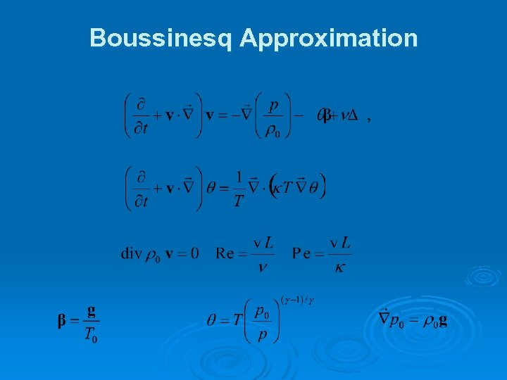 Boussinesq Approximation