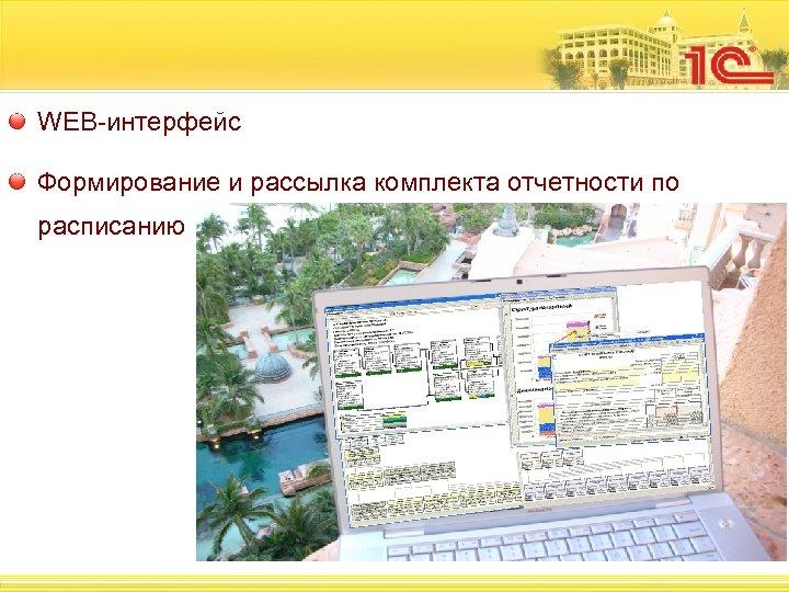 WEB-интерфейс Формирование и рассылка комплекта отчетности по расписанию