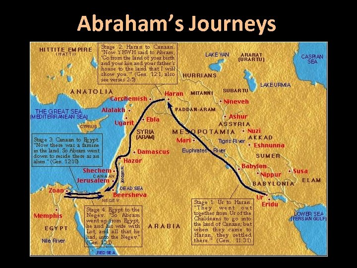 Abraham's Journeys