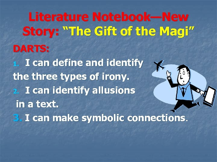 the gift of the magi literary analysis Detailed summary & analysis the gift of the magi summary analysis the story begins on christmas eve, with della lamenting the fact that she's only saved $187, despite months of pinching pennies at the grocer, butcher, and vegetable man.