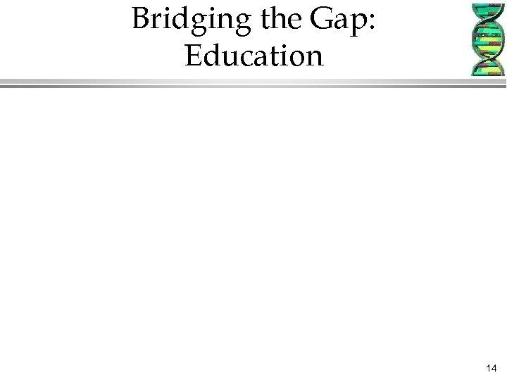 Bridging the Gap: Education 14