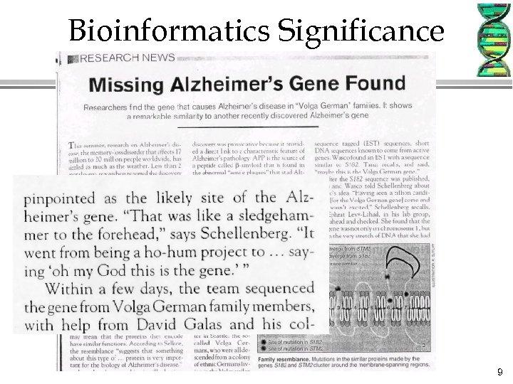 Bioinformatics Significance 9
