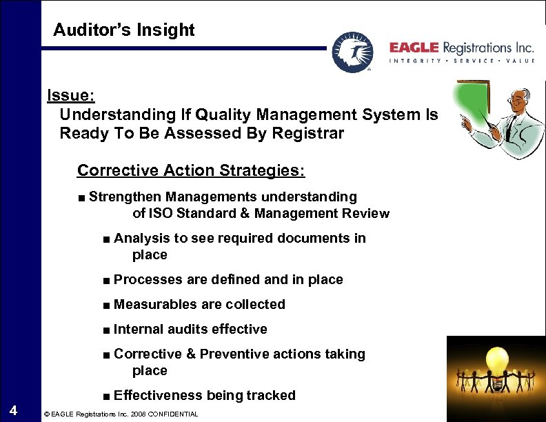 Auditor's Insight Issue: Understanding If Quality Management System Is Ready To Be Assessed By