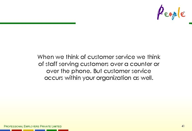 When we think of customer service we think of staff serving customers over a
