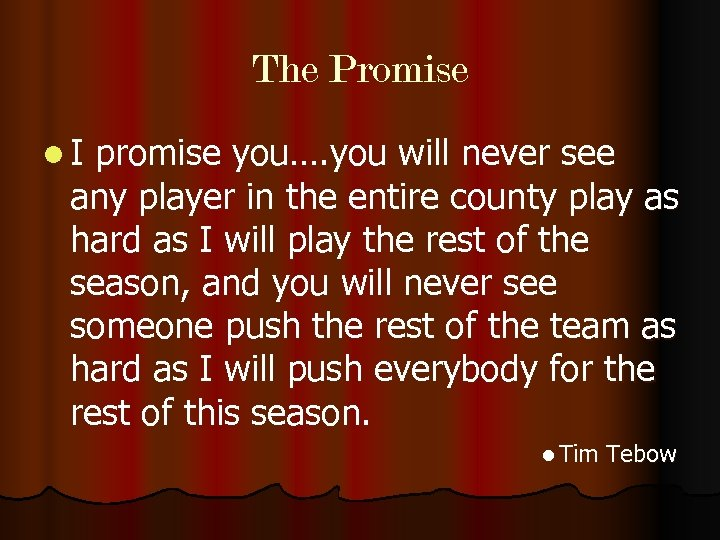 The Promise l I promise you…. you will never see any player in the