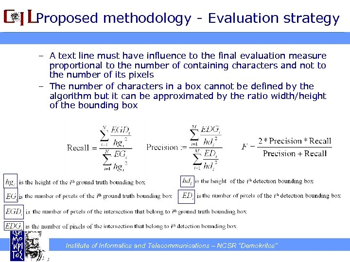 Proposed methodology - Evaluation strategy – A text line must have influence to the