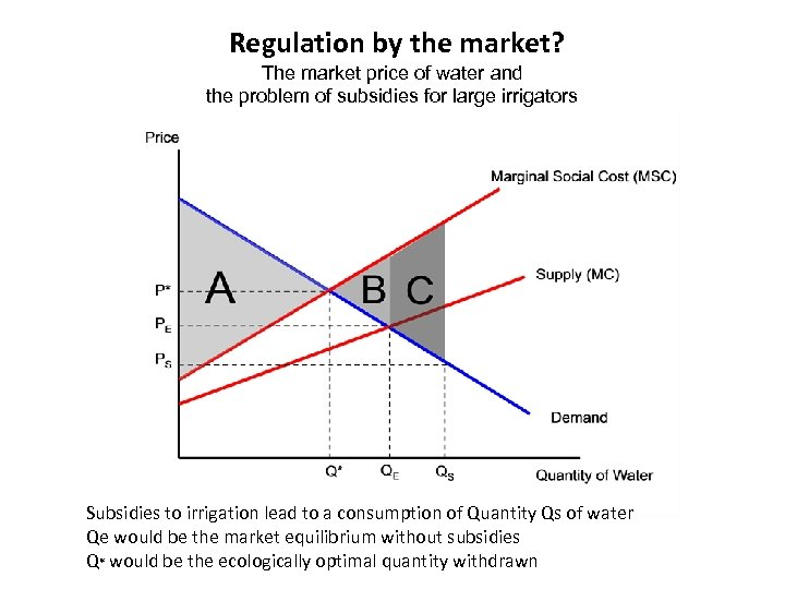 Regulation by the market? The market price of water and the problem of