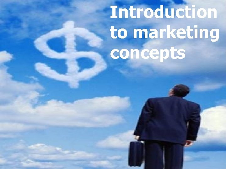 Introduction Problem Solving to marketing concepts
