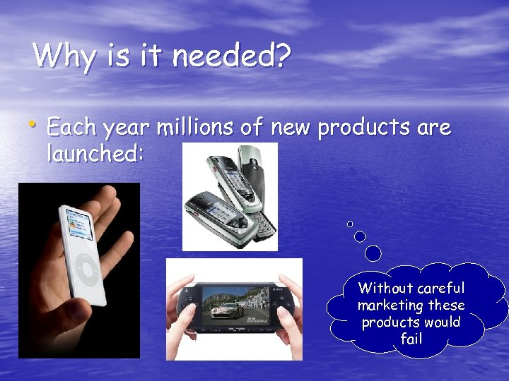 Why is it needed? • Each year millions of new products are launched: Without
