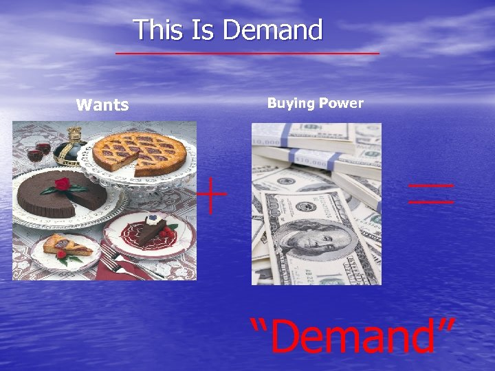 "This Is Demand Wants Buying Power ""Demand"""