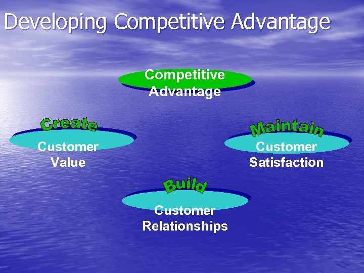 Developing Competitive Advantage Customer Value Customer Satisfaction Customer Relationships