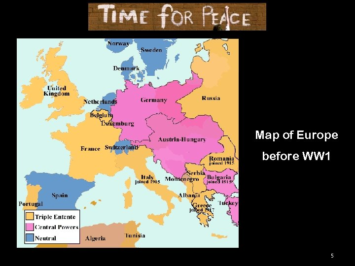 Map of Europe before WW 1 5