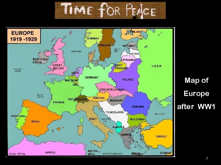 Map of Europe after WW 1 7
