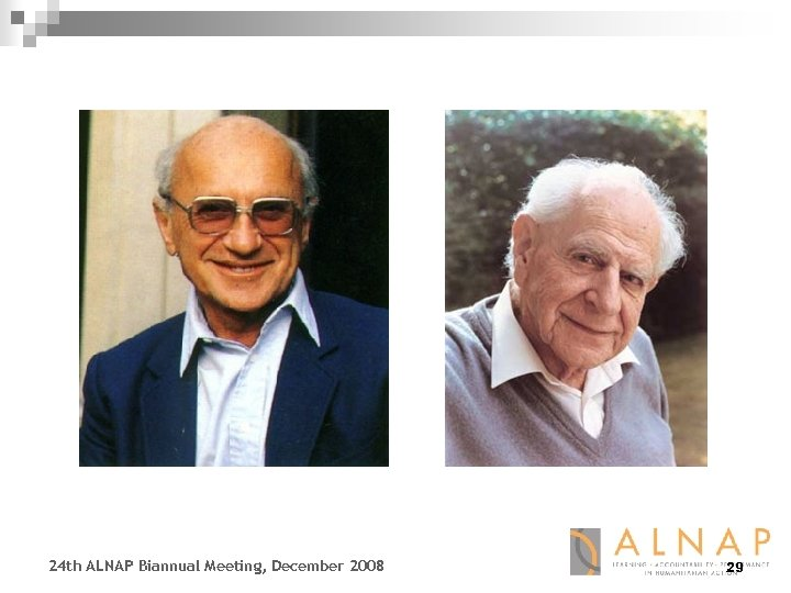 24 th ALNAP Biannual Meeting, December 2008 29