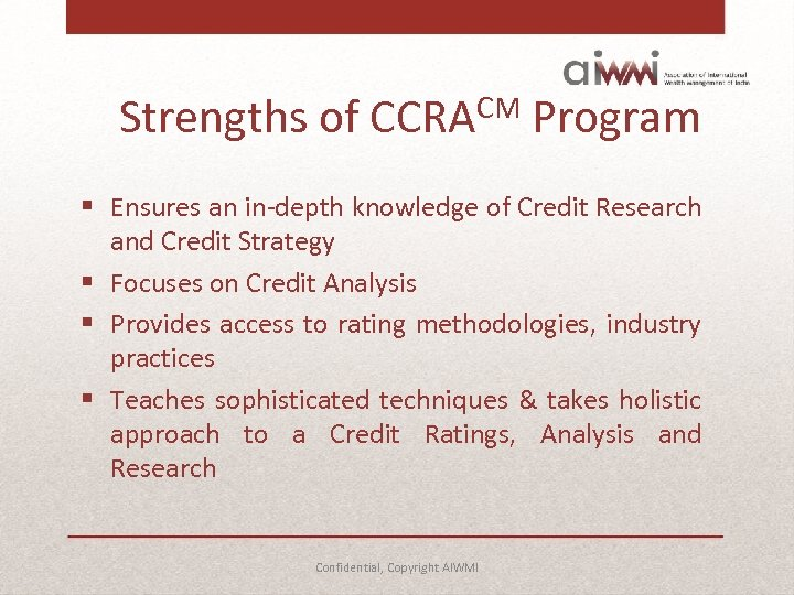 Careers in Credit Research and Analysis Confidential Copyright