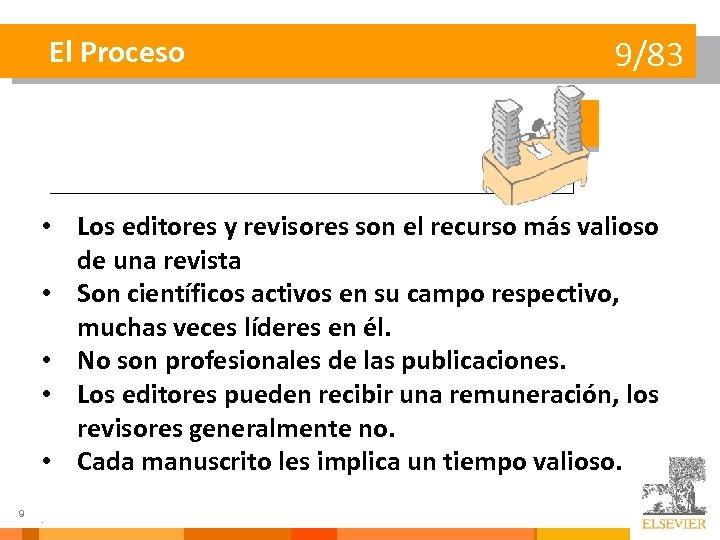 El Proceso 9/83 • Los editores y revisores son el recurso más valioso de
